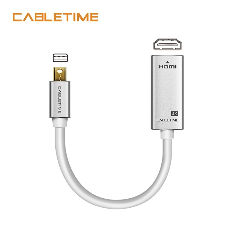 Кабель Thunderbolt Mini Display port To HDMI адаптер Male-Female 4K 30Hz Mini DP to HDMI для ПК Macbook Pro Lenovo 4k N170