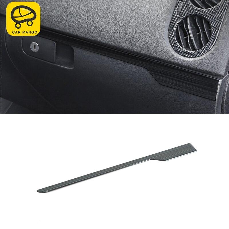 CARMANGO para VW Volkswagen Tiguan 2010-2016, decoración de coche, guantera para asiento de pasajero, cubierta, molduras de Marcos, pegatina, accesorio Interior