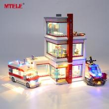 MTELE Brand LED Light Up Kit For City Series City Hospital Lighting Set Compatile With 60204 NO Block Model