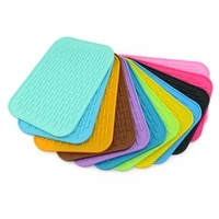 heat resistant silicone non slip kitchen placemat insulation coaster bowl cup drain pad pot holder table mat hom decor 51137