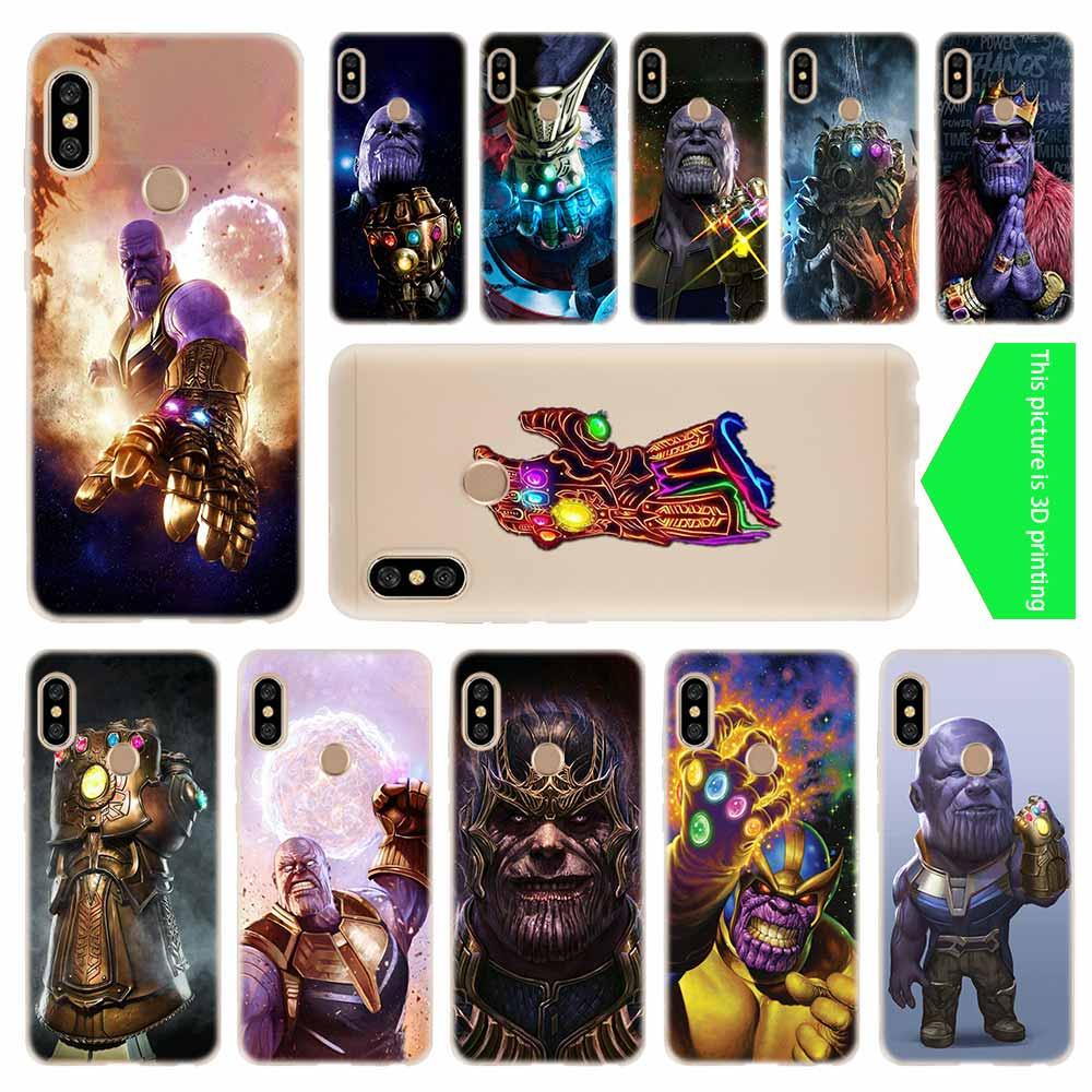 Thanos Avengers Baseus Clear Case For Xiaomi Redmi 8A 7A 4X 4a 5 Plus 7a 5a S2 6a 6 Note 8 7 5 K20 Pro Fundas Soft TPU Back