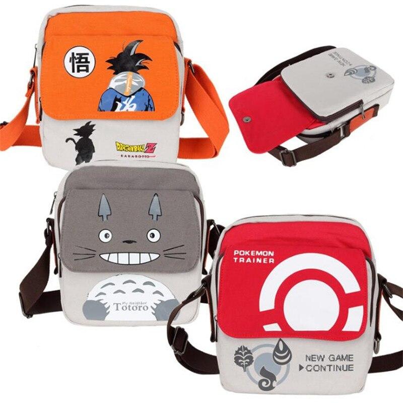 Mochila de dibujos animados Anime Dragon Ball Attack on Titan Cosplay Bolso pequeño estudiante bolso de hombro Naruto Totoro bolso mensajero