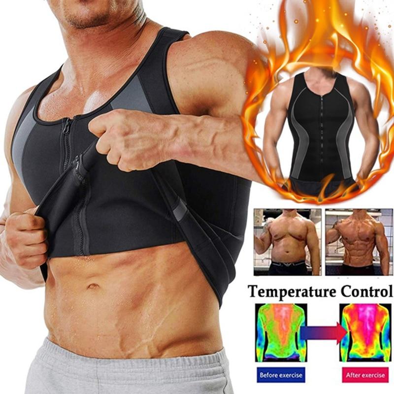 Мужская компрессионная рубашка для похудения формирующий жилет для тела тренировочные майки АБС Abdo мужские майки мужской корсет для похуд...