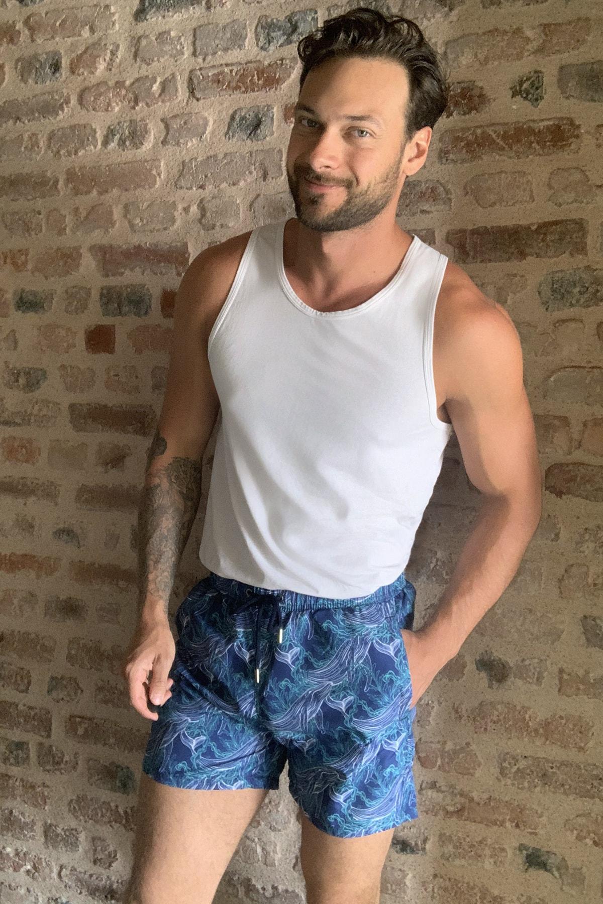 Trendyol Male Pattern Sea Shorts TMNSS20DS0005