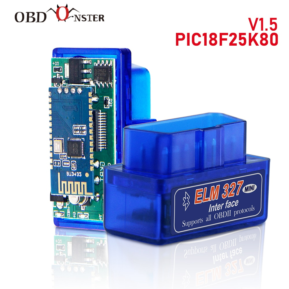 original v1 5 elm327 bluetooth adapter pic18f25k80 eml327 obd2 1 5 for android pc works with forscan elm 327 obd2 1 5 in russian ELM327 Bluetooth V1.5 PIC18F25K80 OBD2 Scanner ELM 327 Bluetooth Android/PC Torque Car Code Scanner OBD2 Bluetooth Adapter 1.5