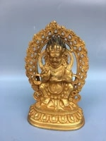 7chinese temple collection old bronze gilt vajra bodhisattva roc garuda statue sitting buddha enshrine the buddha ornaments