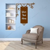 antique hanging sign with personalised textquote or words wall sticker vinyl home decor room art decals removable murals 4306