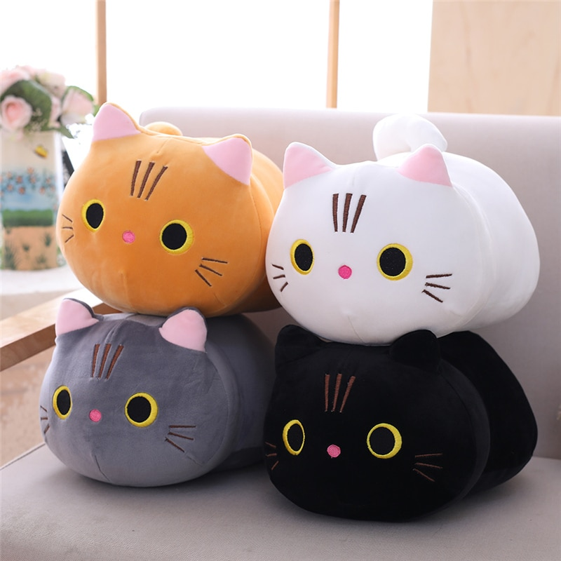 Cartoon Soft Cat Plush Toy Children's Toy Sofa Pillow Cushion Down Cotton Padded Toy Gift Children's