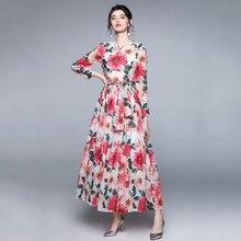 Bohemian Holiday Beach Maxi Dress Women Floral Rrint Elegant Dress High Quality Fashion Casual Party
