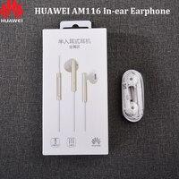 Оригинальный Huawei AM116 наушники 3,5 мм In-ear гарнитуры микрофон Регулятор громкости для Honor 8, 9, 10, V20 Mate 10 9 8 7 P6 P7 P8 P9 P10 Lite
