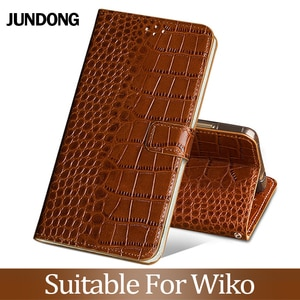 For Wiko Harry 2 View 2 3 Pro Go Jerry 2 3 Lenny 3 4 5 View 2 3 Lite Plus Case Crocodile Texture Cover Cowhide Phone Bag Wallet