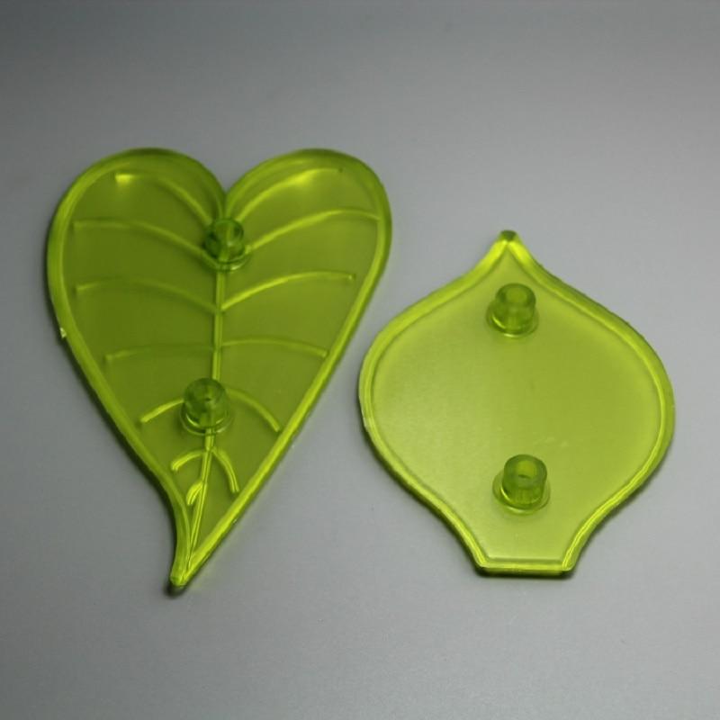 (12 juegos por lote), envío gratis, fda de gran calidad, plástico, 2 uds., conjunto de moldes para Fondant llamativos de cala Lily