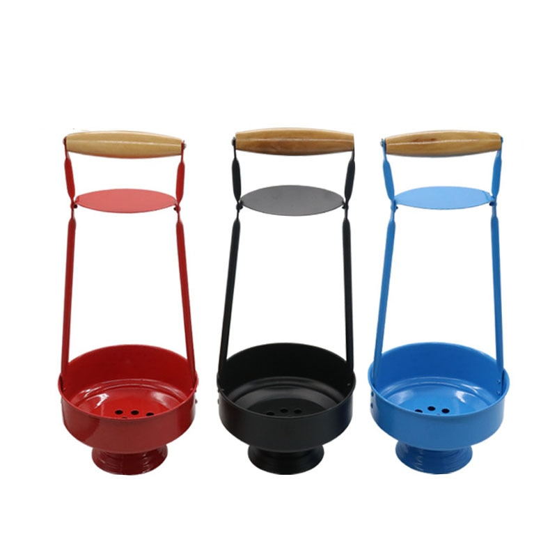 Metal Hookah Charcoal Holder Basket Wood Shisha Hookah Carbon Basket For Hookah Chicha Narguile Accessories 3 Color enlarge