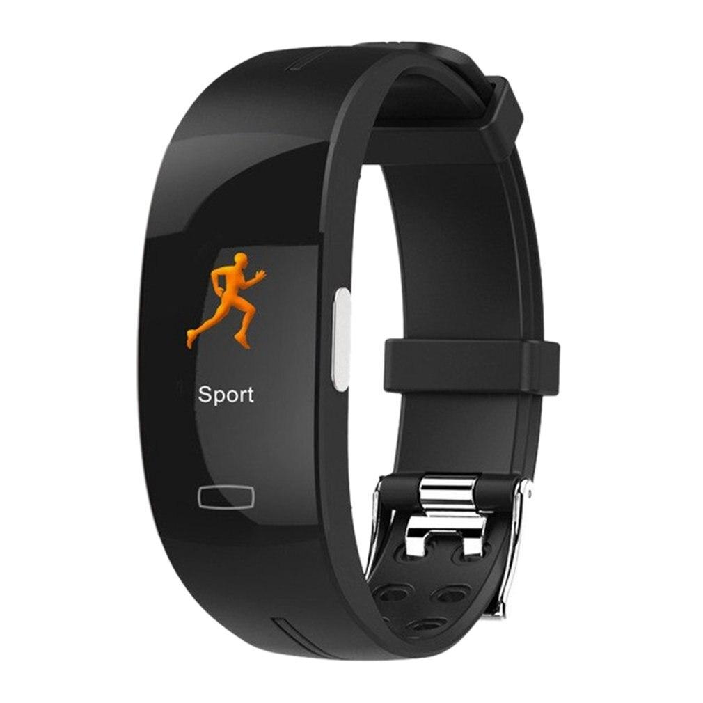Reloj inteligente P3plus con pantalla a color, reloj inteligente con control del ritmo cardíaco en tiempo real + electrocardiograma ECG, control de la temperatura corporal