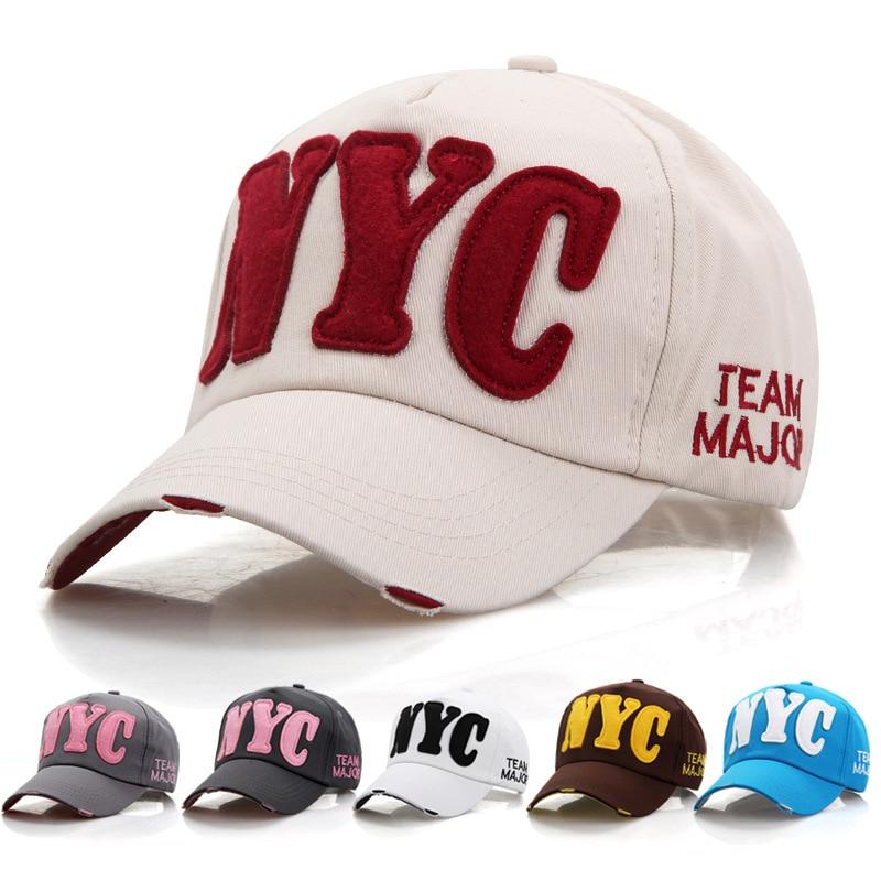 2020 New Dad Hats NYC Hat Letter Lover Caps Unisex Spring Summer Sun hat Baseball Cap Adjustable hat Fashion women hat Dad Hat
