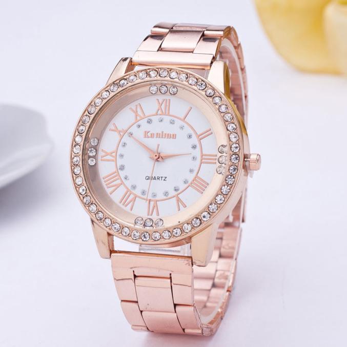 2020 NEW couple wristwatch Crystal Rhinestone Stainless Steel Analog Quartz Wrist Watch relogio masc