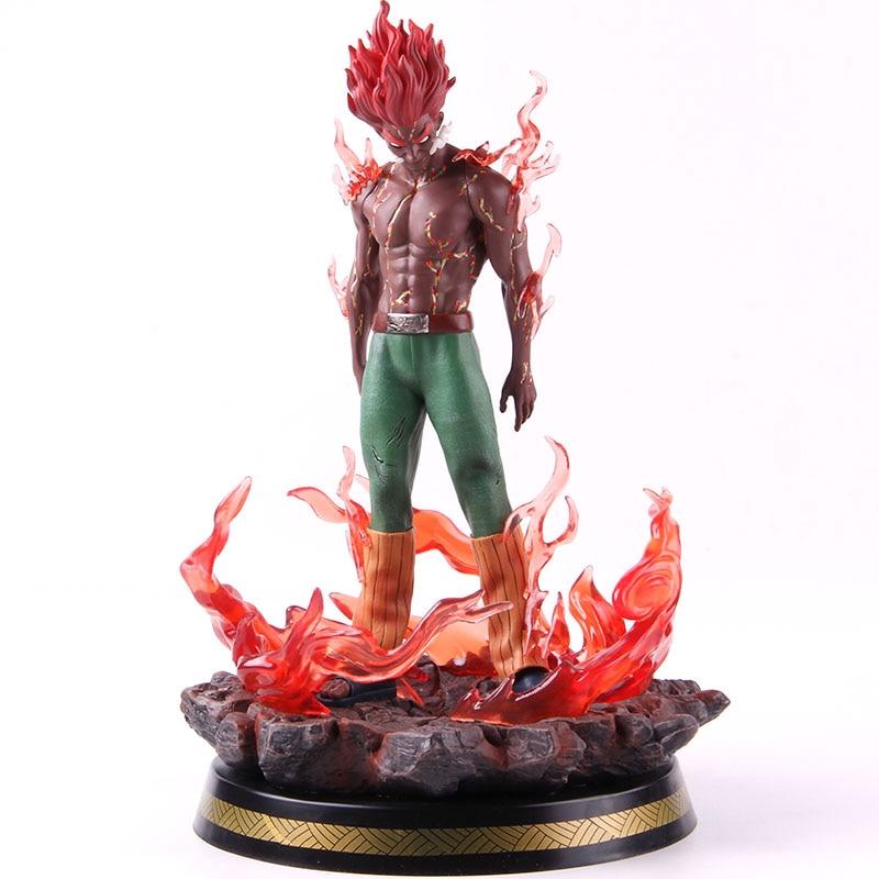 Figura de acción de Naruto Shippuden may Guy, juguete de modelos coleccionables de PVC a escala 1/7 con luz LED, estatua GK