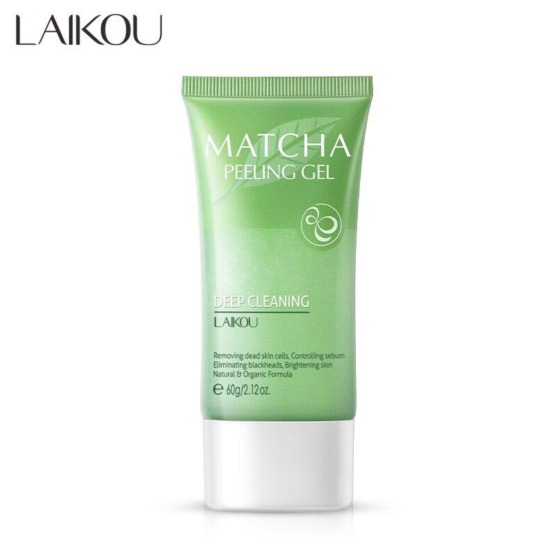 60g hidratante antiarrugas exfoliación antiedad contracción de los poros exfoliante suaviza la piel Facial Matcha Gel exfoliante caliente