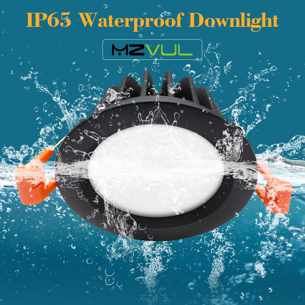 IP65 Waterproof LED Recessed Downlight 5W 7W 9W 12W 15W LED Spot Light Ceiling Lamp Home Lighting AC 85-265V For Bathroom lamp