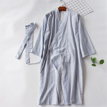 Couple rayure Style japonais coton Kimono Yukata femme Haori vêtements de nuit hommes samouraï Costume longue robe pyjamas japon vêtements