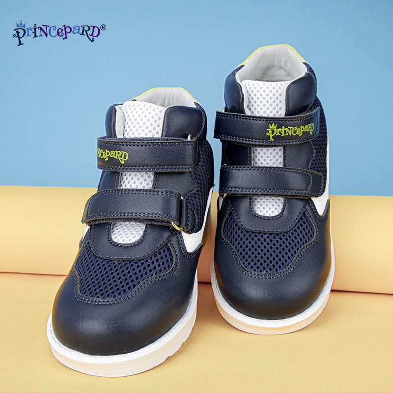 PRINCE PARD Kids Orthopedic Sneakers For Boys Girls Club foot Shoes First Walking Corrective Arch Support Children Shoes enlarge