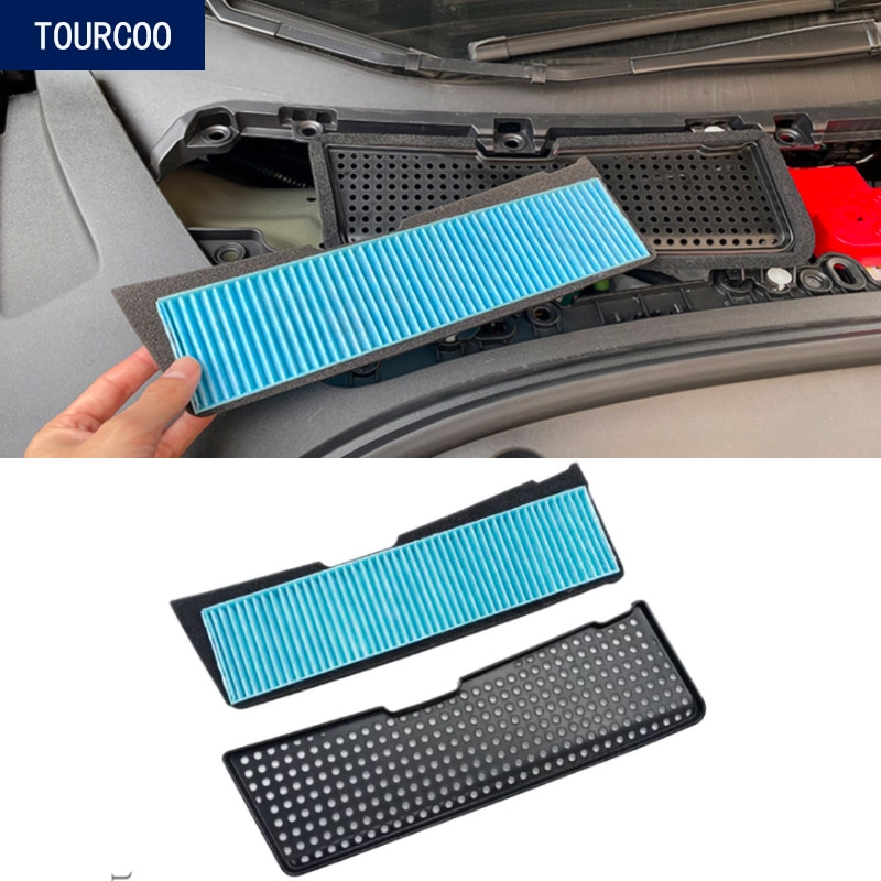 For Tesla Model 3 2021 Air Conditioner Port Insect Net Car Exterior Modification Accessories