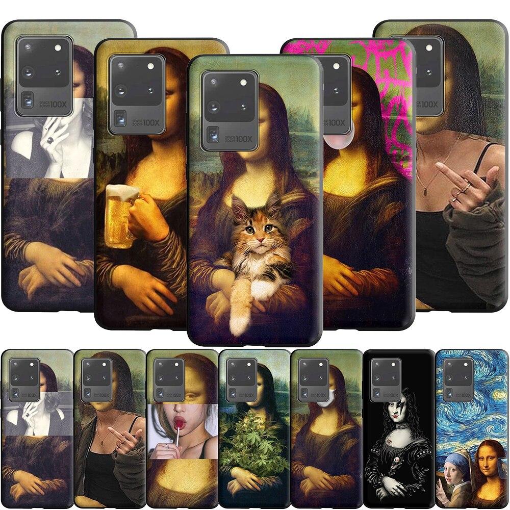 Mona Lisa by Leonardo Case for Samsung Galaxy A10 A20 A20E A30 A30S A40 A50 A50S A51 A60 A70 A70S A71 A81 A91