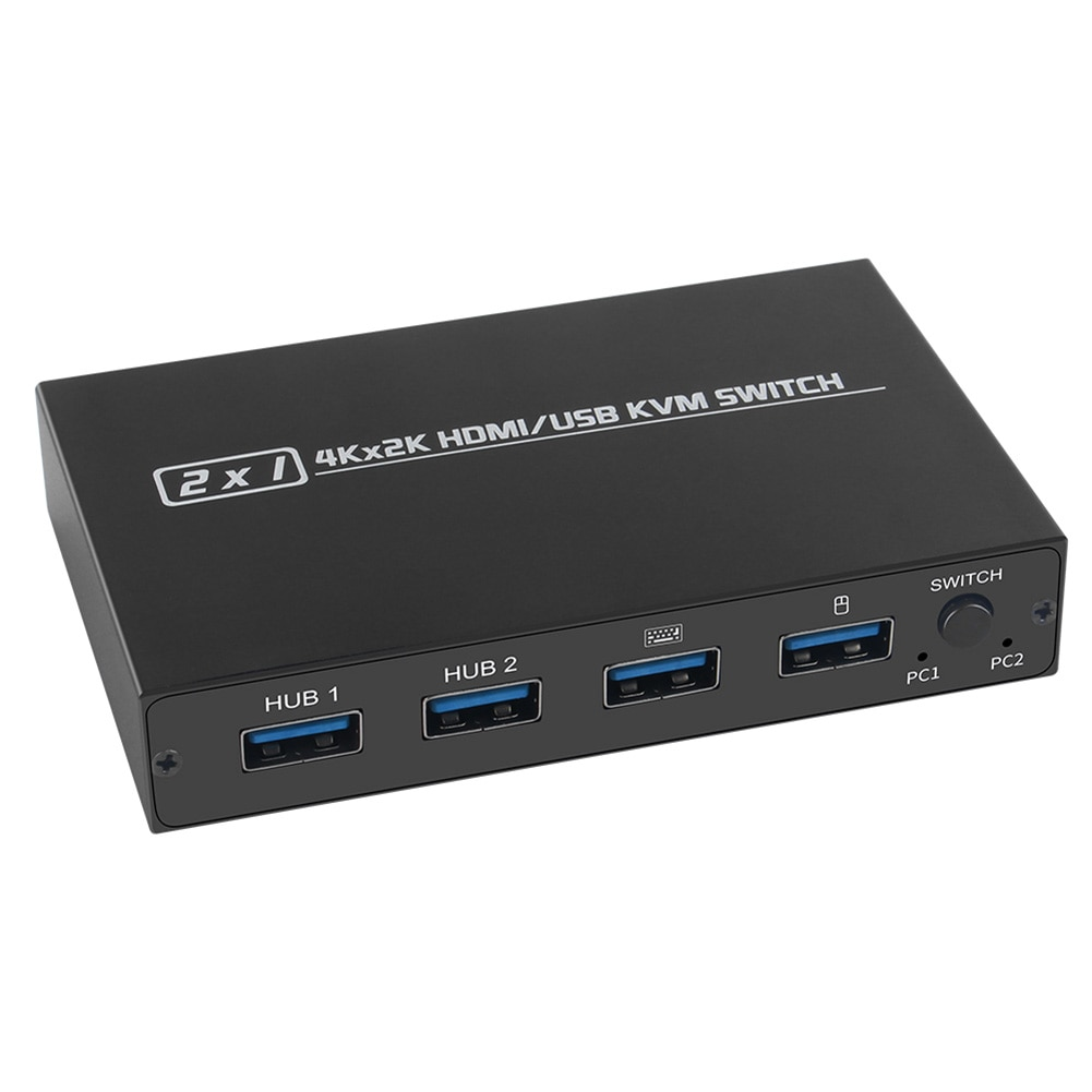 hdmi compatible kvm switch 2 port 4k household computer accessories for 2 pc sharing one monitor keyboard mouse printer KVM Switch HDMI-compatible UHD 4K Household Computer Safety Parts for 2 Computers Sharing Monitor Keyboard Mouse Printer