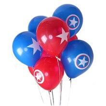 12inch The Avengers America Spiderman Hulk Iron shield Balloon Classic hero Kids Toys Baby Shower Latex Birthday Party supplies