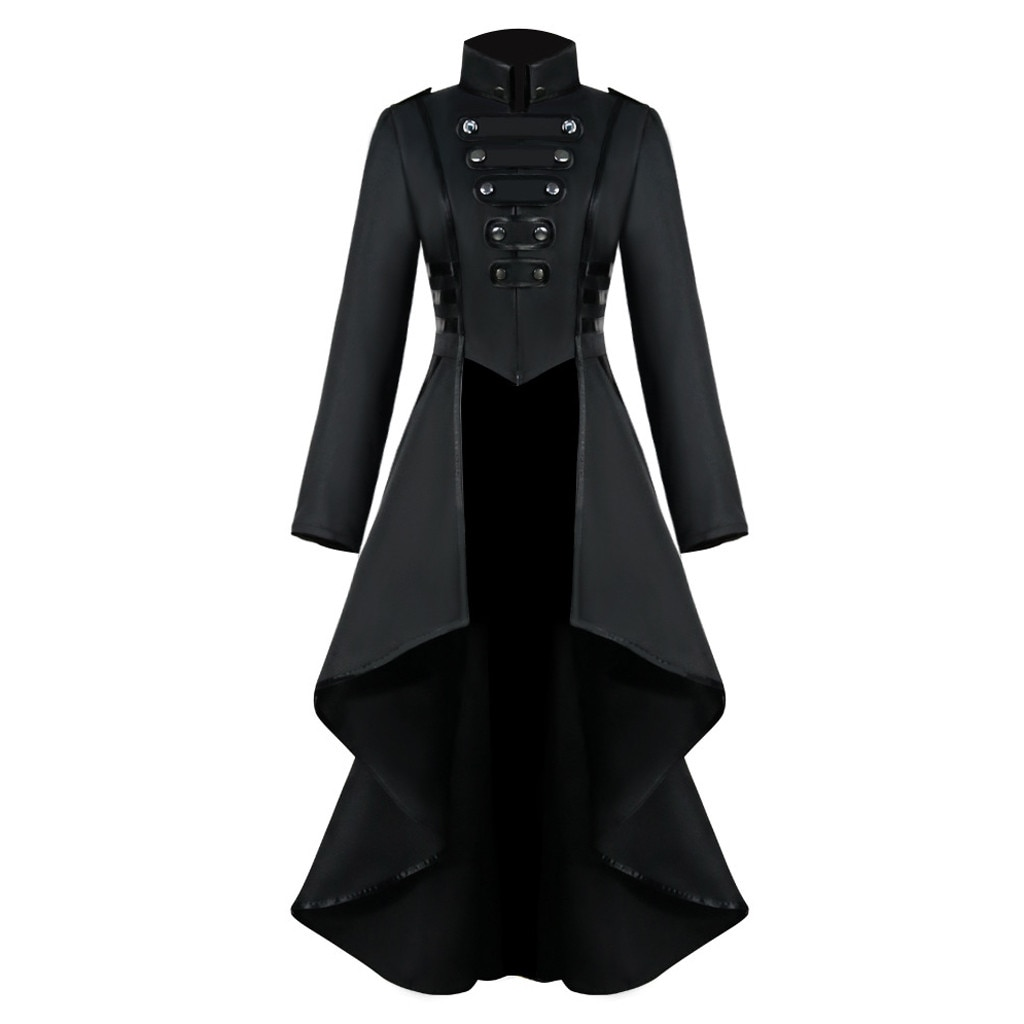 Frauen Halloween Jacken Gothic Steampunk Taste Spitze Korsett Casual Halloween Kostüm Mantel Frack Jacke f40