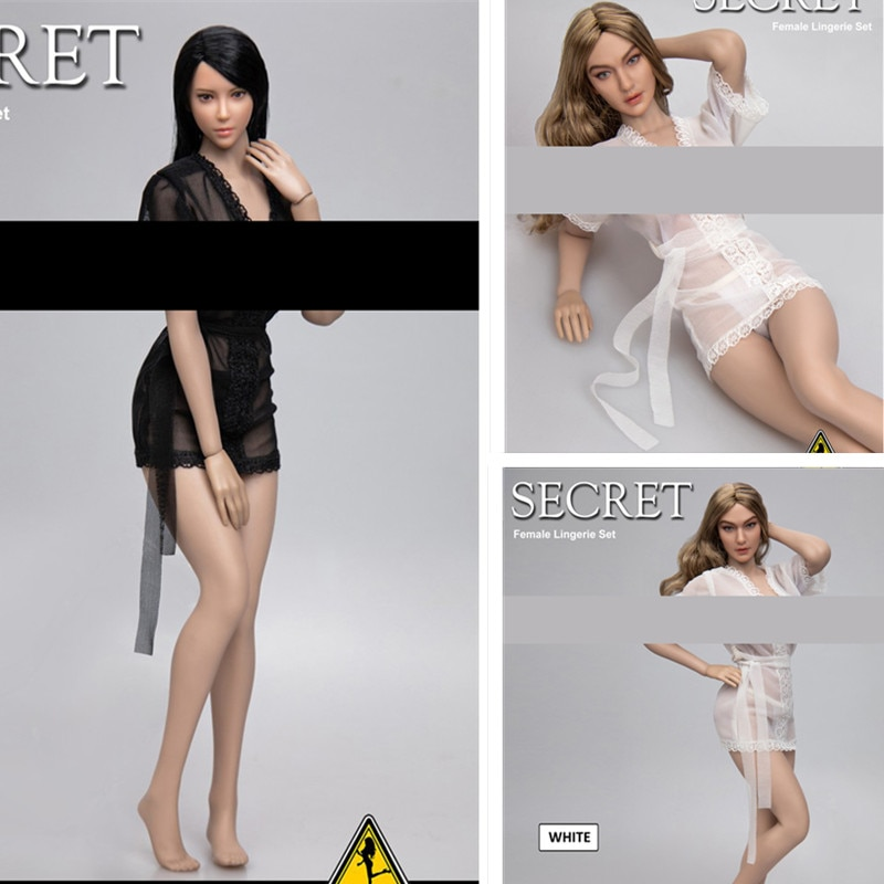 1/6 scale Female soldier figure Sheer Robe and Panty set sexy Lace sleepwear for 12 Inches Tbleague PH  Action Figures DIY doll
