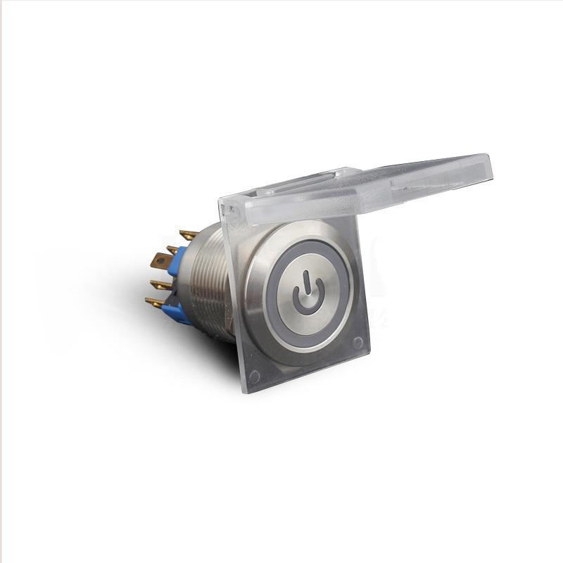 Защитный чехол пылезащитный чехол 16/19/22 мм металлический кнопочный переключатель прозрачный белый брызгозащищенный чехол чехол