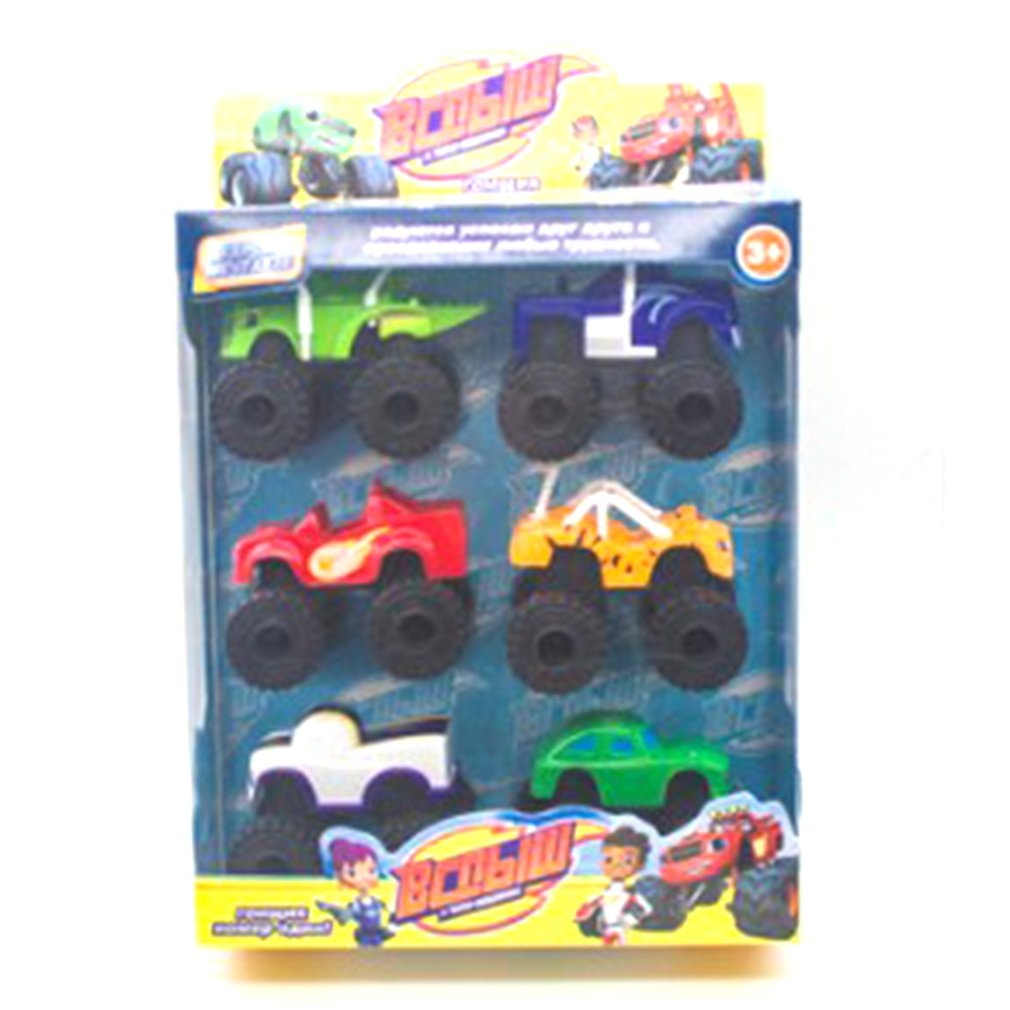 6PCS/Lot Monster Machines Russia Kid Toys Blaze miracle cars blaze Vehicle Car With Original Box Best Gifts For Kids