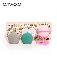o two o three cosmetic egg set with stand wet and dry dual purpose flocked puff carton suit