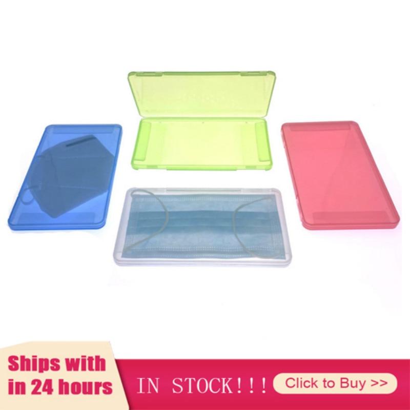 Máscara caja de almacenamiento organizador máscara caja de embalaje a prueba de humedad y a prueba de polvo portátil caja Rectangular para almacenamiento máscara desechable caja