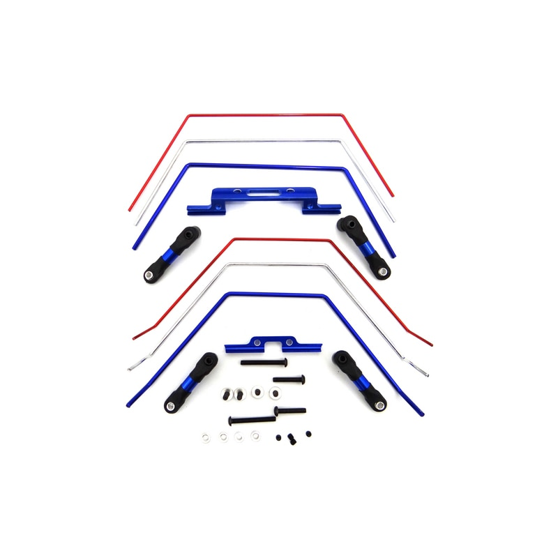 1set Front and Rear Sway Bar Kit Radio Control LCG Chassis for 1/10 Traxxas Slash 2wd Te311slc Hot R