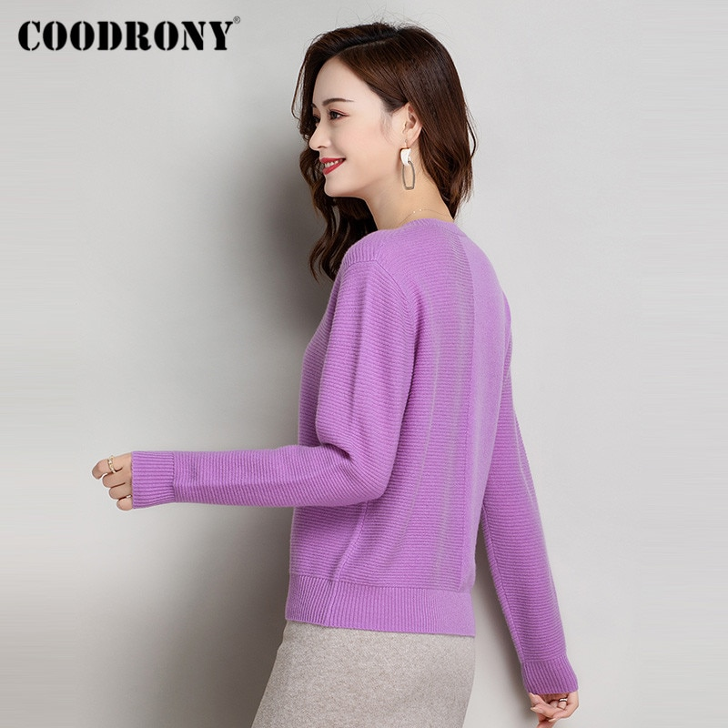 COODRONY Brand Elegant Knitting Slim Pullover Sweaters Female Autumn Winter High Quality Merino Cashmere Jumpers Women W1181 enlarge