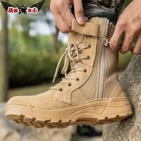 wolf attack high top mountaineering shoes autumn hiking shoes combat boots mens outdoor tactical breathable desert army boots