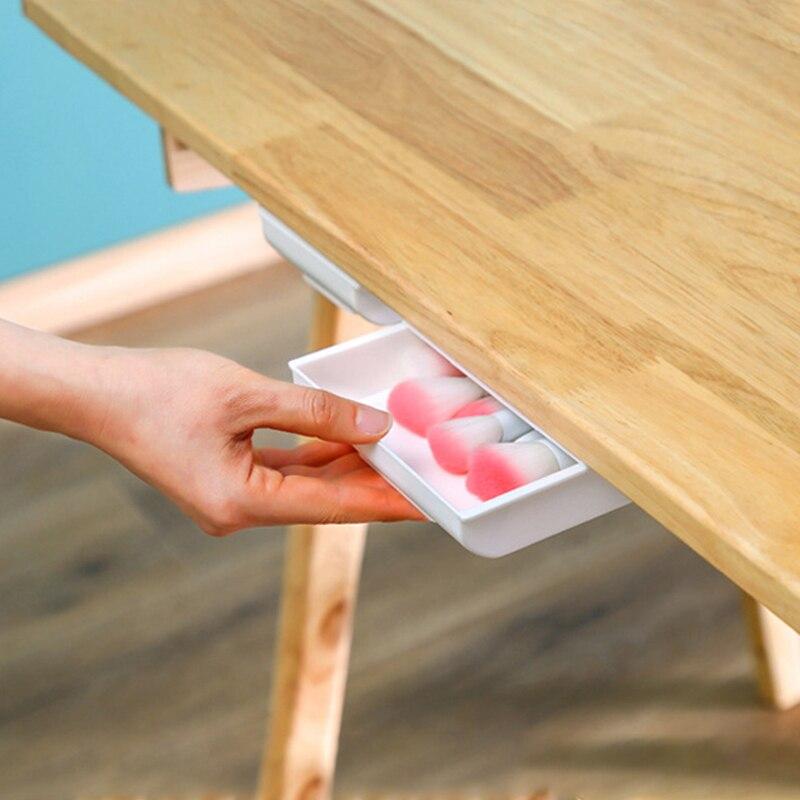 Dulang pensil tongkat diri di bawah laci meja, penyusun simpanan, - Organisasi dan penyimpanan di dalam rumah - Foto 5