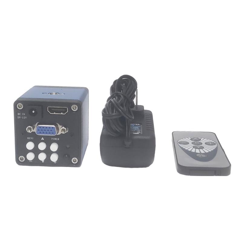 جهاز تحكم عن بعد 14MP 1080P كامل HDMI متوافق مع VGA كاميرا مجهَّزة بميكروسكوب رقمي لحام مختبر PCB اختبار مجهر