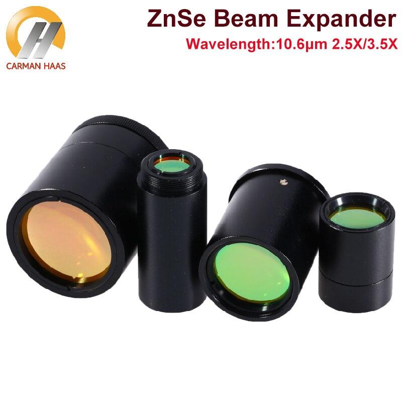 Carmanhaas CO2 شعاع المتوسع 2.5X 3.5X ZnSe الثابتة شعاع المتوسع لآلة القطع النقش بالليزر