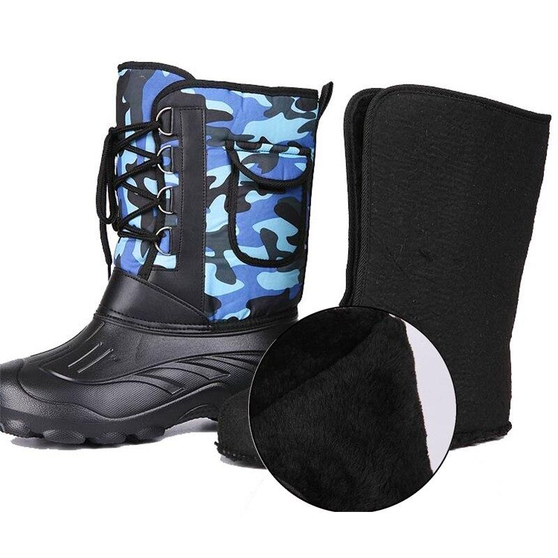 Купить с кэшбэком Waterproof Wading Fishing boots Winter Fishing shoes Rubber Non-slip Plus velvet Keep warm fishing waders boot outdoor product