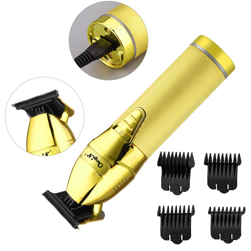 USB مقص الشعر المهنية الكهربائية الشعر المتقلب اللاسلكي آلة قطع الشعر الرجال أداة تهذيب اللحية ماكينة حلاقة حلاقة المقص