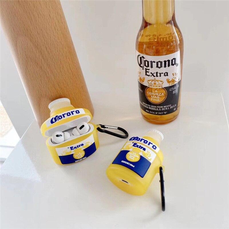 Чехол для Airpods 1/2, 3D креативный чехол с изображением пива, мягкий силиконовый чехол для наушников, чехол для Airpods Pro, чехол для детей/девочек чехол