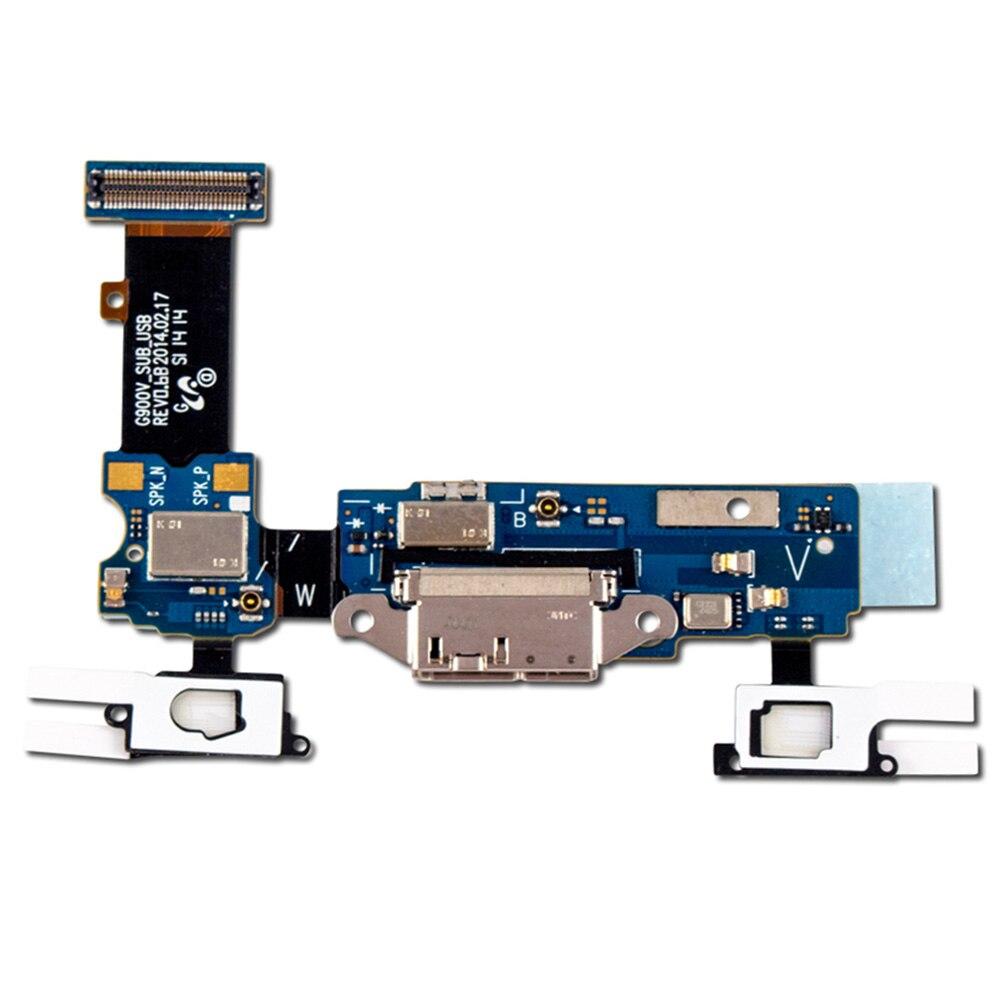 Accesorios USB para teléfono móvil Mini Durable Dock conector partes de reparación Cable flexible puerto de carga reemplazo para SM S5/G900F