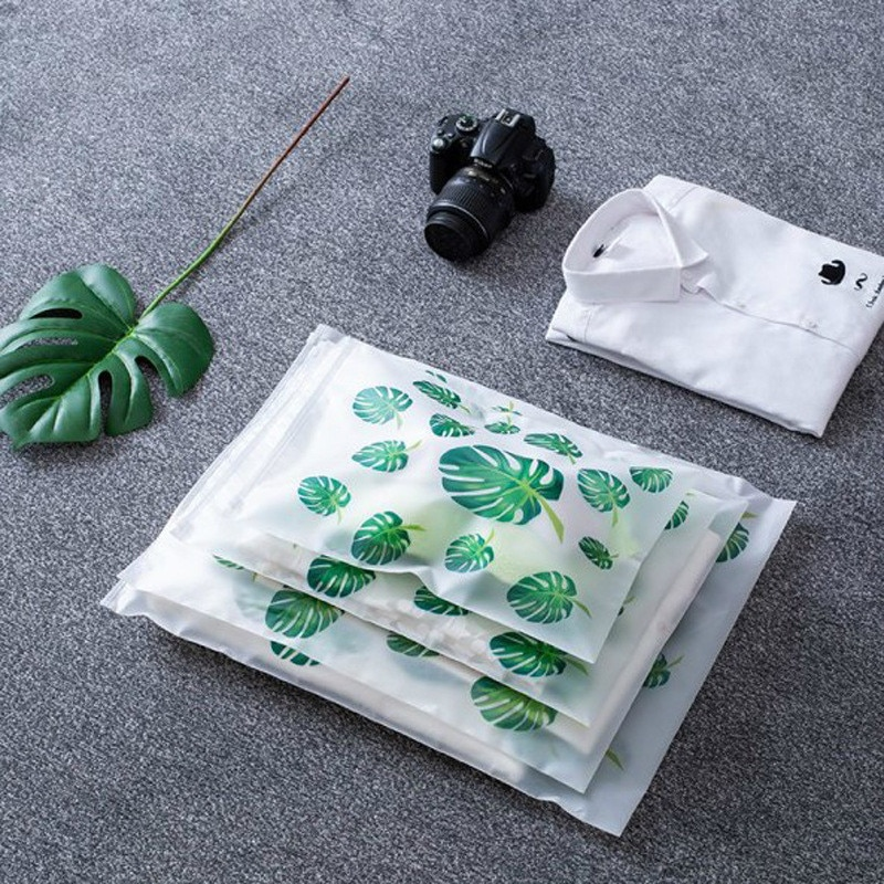 S-XXL Transparent Fresh Plant Cosmetic Travel Bag women Toiletry Wash Kit Beauty Bath Zipper Organizer Storage Pouch