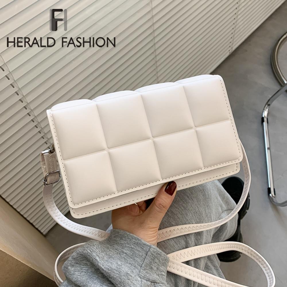 Woven Flap Women's Shoulder Bag High Quality PU leather Crossbody Bags Designer Luxury Handbag Female Chain Tote Messenger Bag