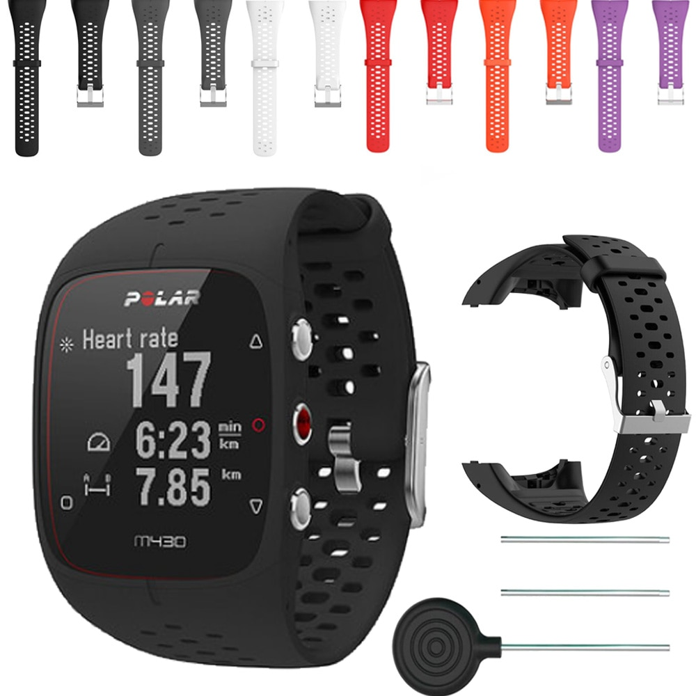 Pulsera de correa de silicona deportiva transpirable para Polar M430 M400 reloj inteligente reemplazo de correa de goma accesorios de pulsera