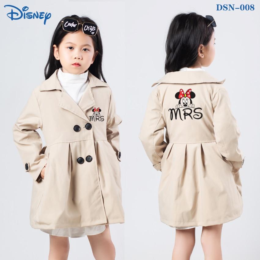 Disney Kawaii Mickey Mouse Anime Figure Spring Jacket Kids Long-Sleeved Windbreaker Minecraft Trend New Baby Clothing Coat