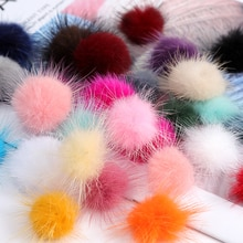 3cm Fur Pompom Otter Pom Poms Colors Soft mink Pompon DIY Material Earrings Accessories Decor Clothi
